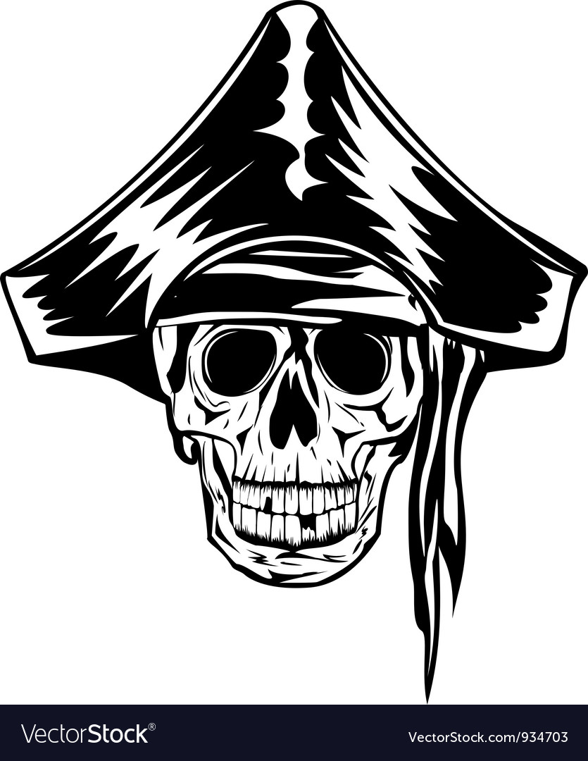 Pirate with bandana and hat vector | Price: 1 Credit (USD $1)