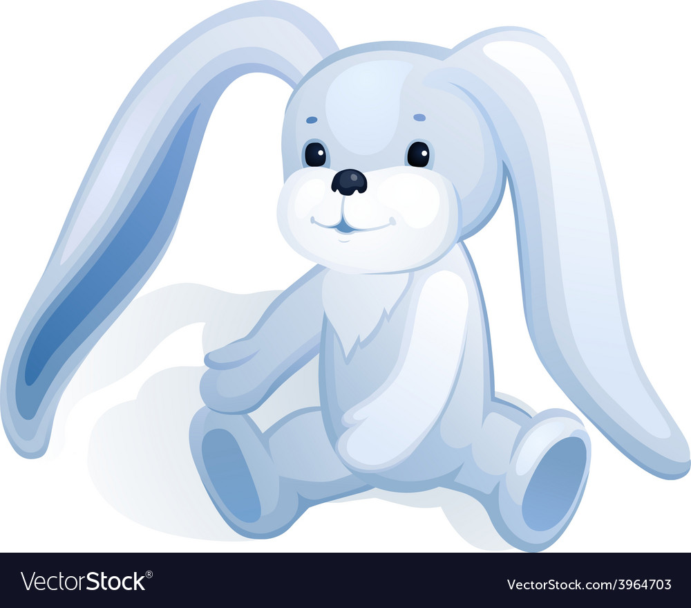 Plush bunny vector | Price: 1 Credit (USD $1)
