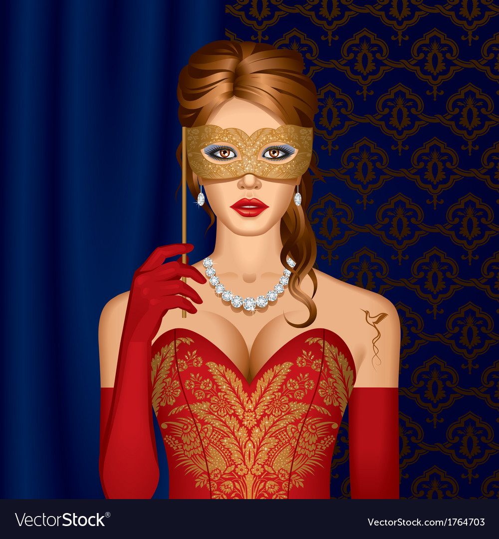 Venetian beauty in a mask vector | Price: 1 Credit (USD $1)