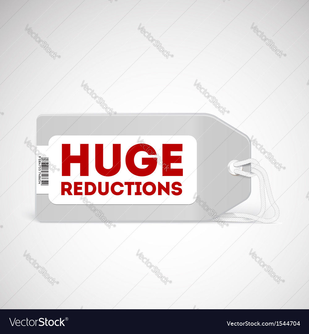 Blank price tag isolated on white vector | Price: 1 Credit (USD $1)