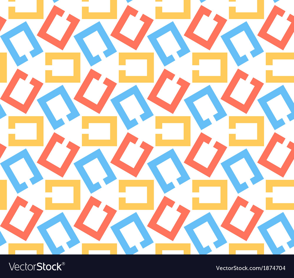 Chain links abstract geometric seamless pattern vector | Price: 1 Credit (USD $1)