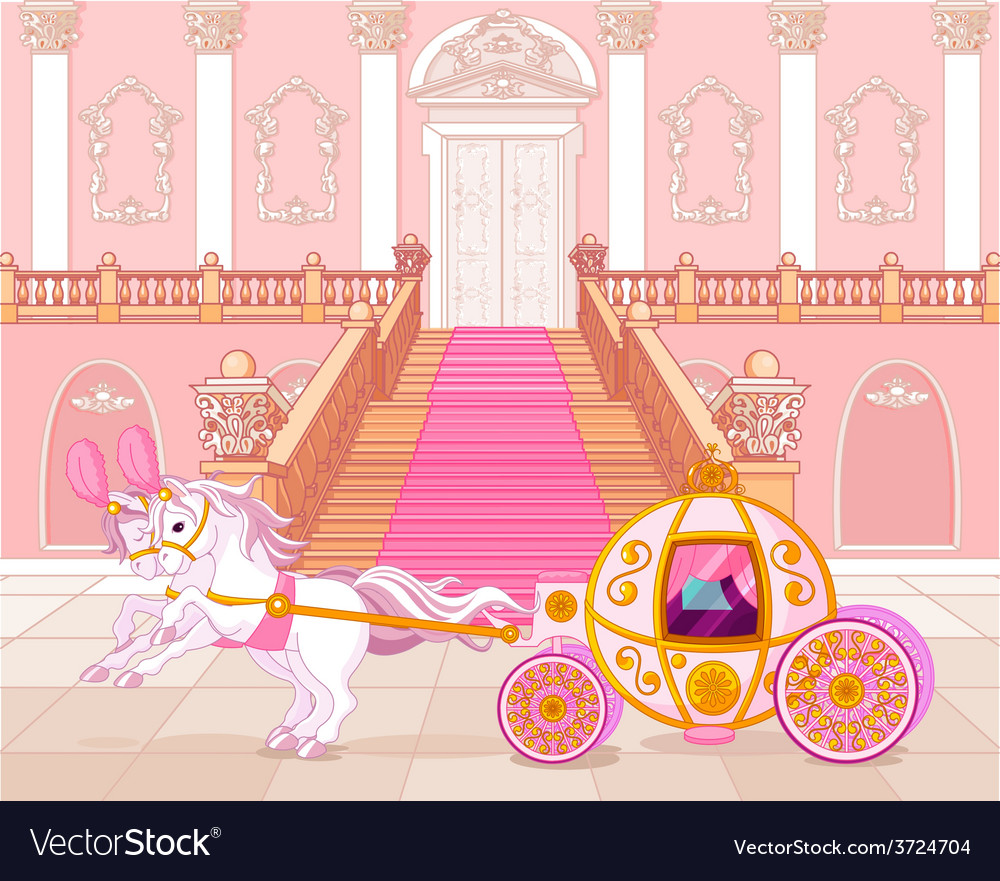 Fairytale pink carriage vector | Price: 3 Credit (USD $3)