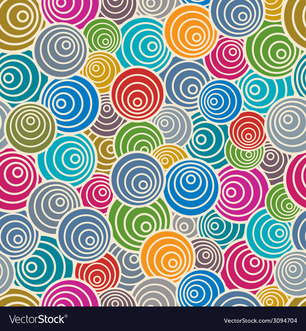 Funky style seamless pattern vector | Price: 1 Credit (USD $1)