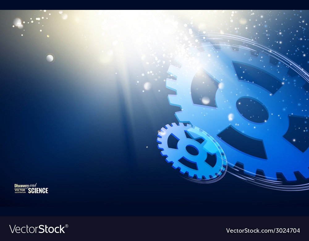Gear-wheels over lights vector | Price: 1 Credit (USD $1)