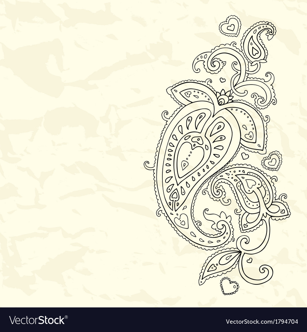 Hand drawn paisley ornament vector | Price: 1 Credit (USD $1)