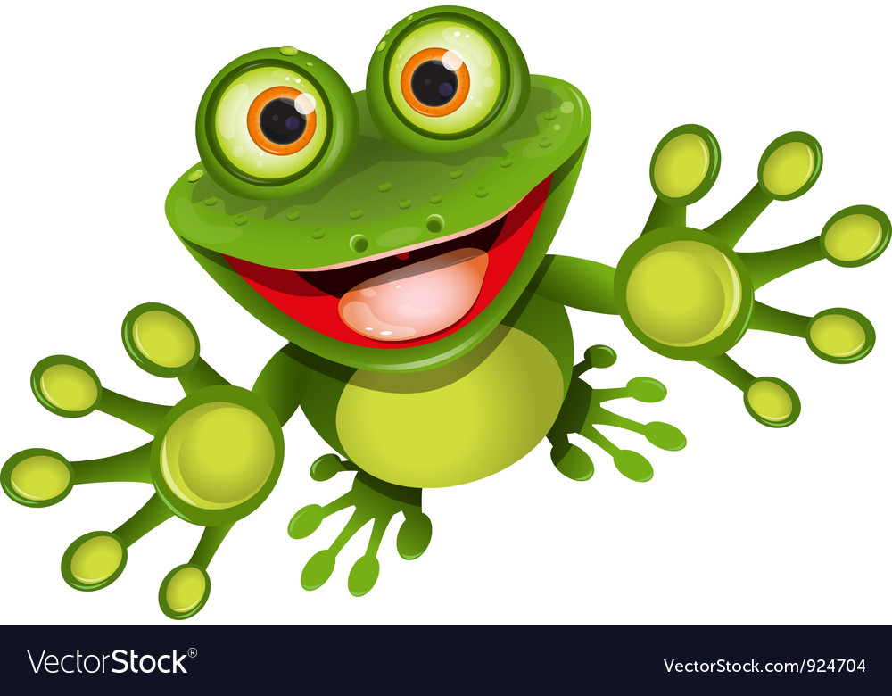 Happy frog vector | Price: 3 Credit (USD $3)