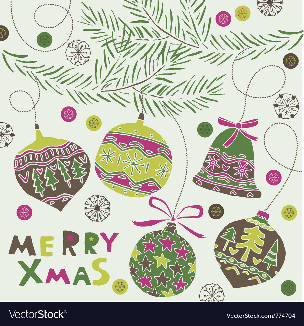 Merry xmas greeting vector | Price: 1 Credit (USD $1)