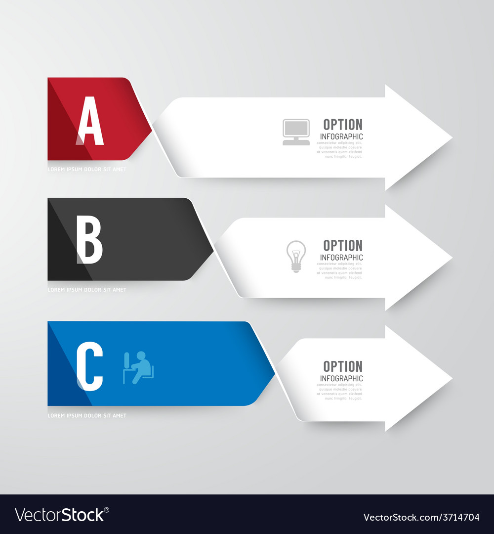 Modern infographics design options banner vector | Price: 1 Credit (USD $1)