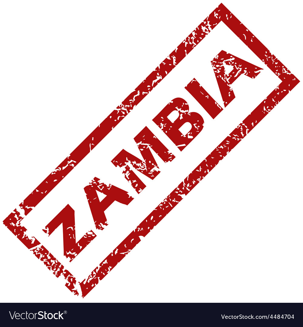 New zambia rubber stamp vector | Price: 1 Credit (USD $1)