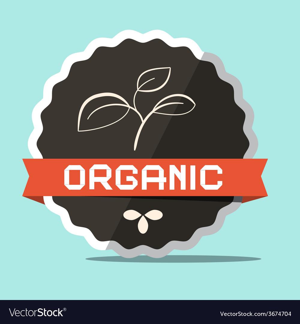 Organic retro label vector | Price: 1 Credit (USD $1)