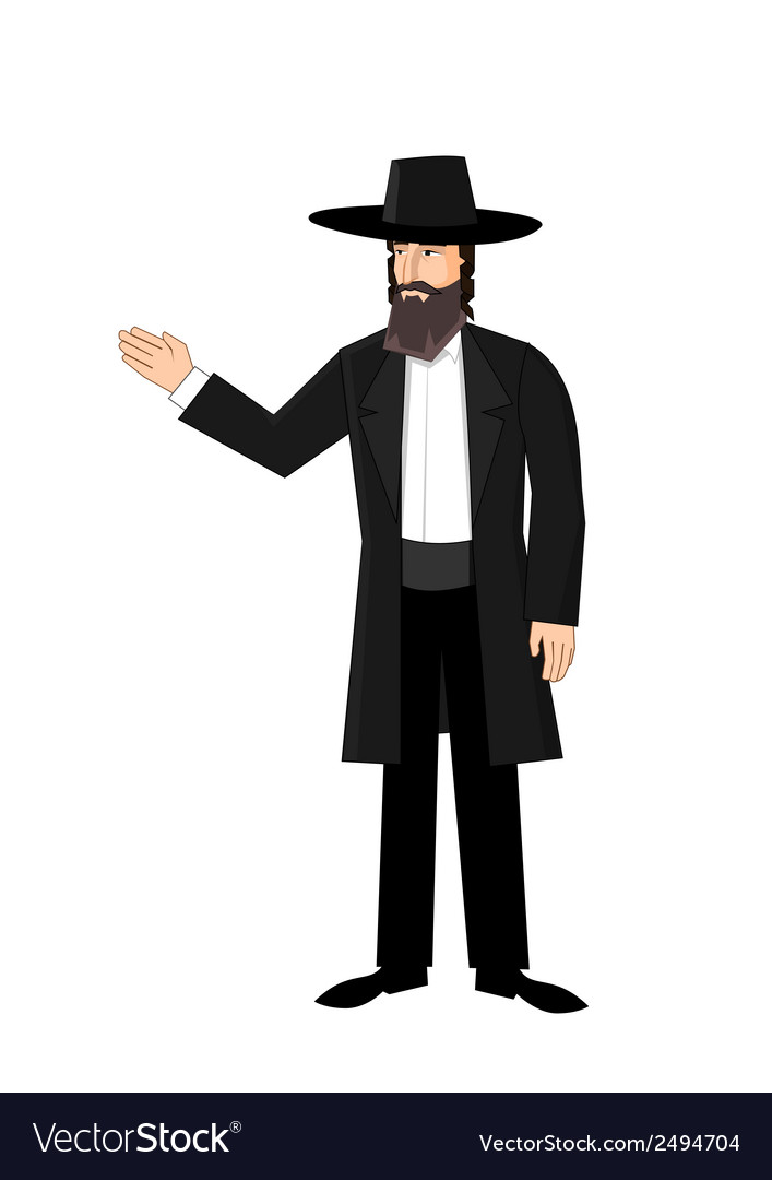 Orthodox jewish man vector | Price: 1 Credit (USD $1)