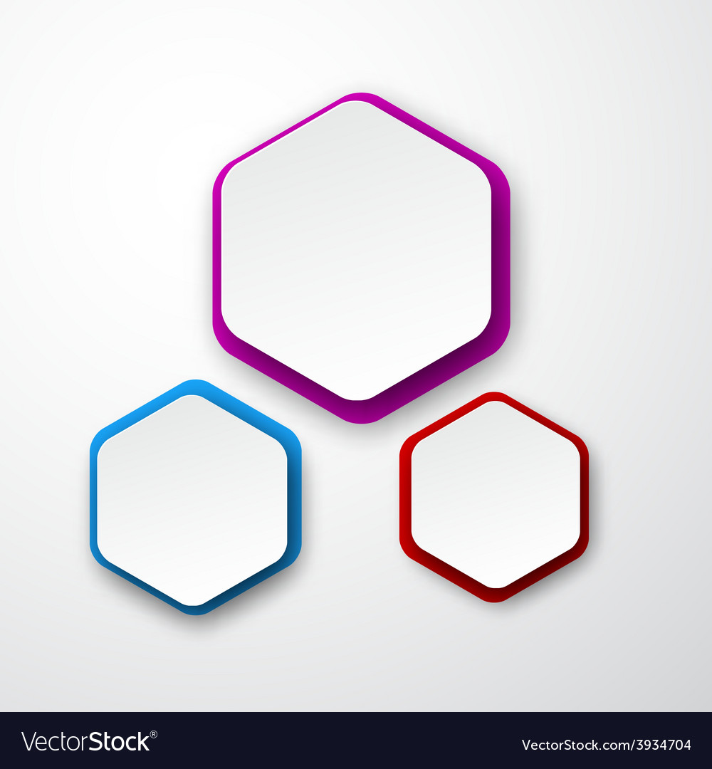 Paper white hexagonal notes vector | Price: 1 Credit (USD $1)