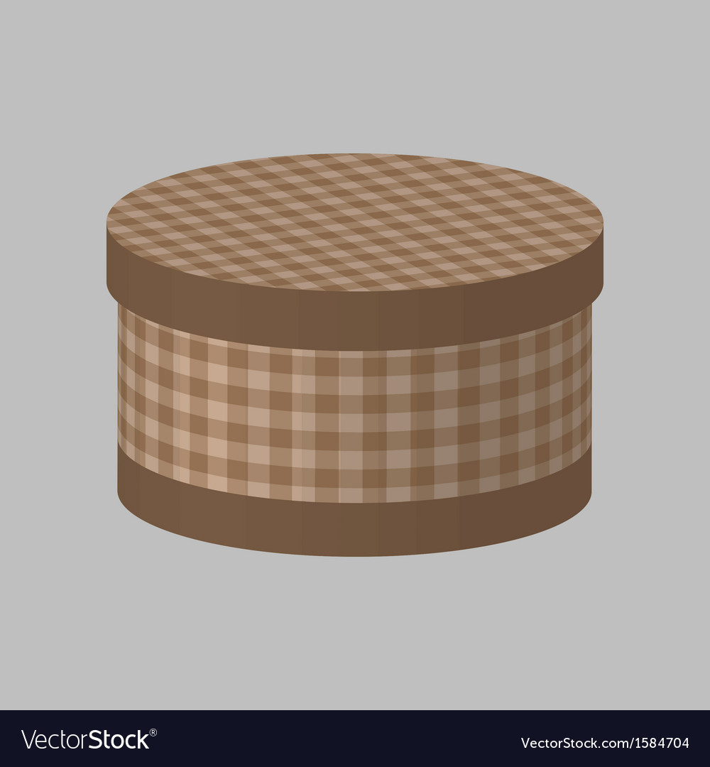 Round box vector | Price: 1 Credit (USD $1)
