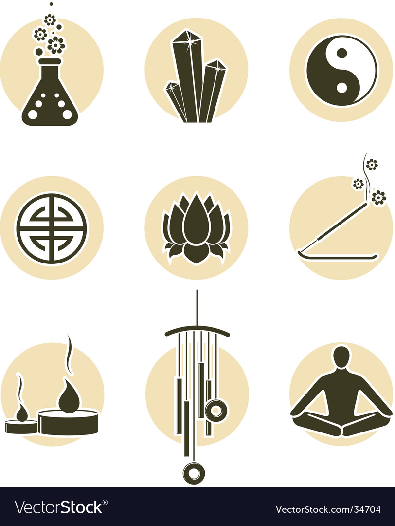 Spirituality icon set vector | Price: 1 Credit (USD $1)