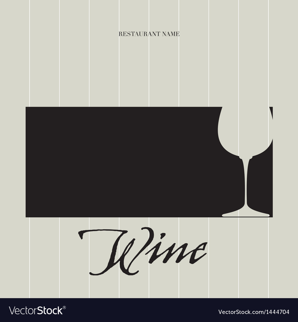 Wine list - menu vector