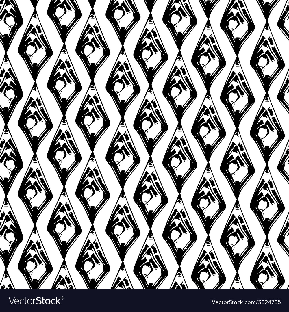 Abstract black and white grunge seamles pattern vector | Price: 1 Credit (USD $1)