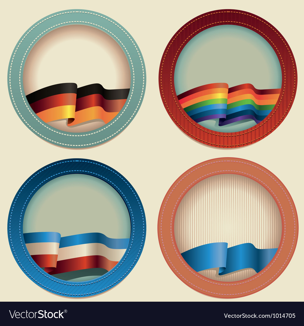 Abstract round frames with flags vector | Price: 1 Credit (USD $1)