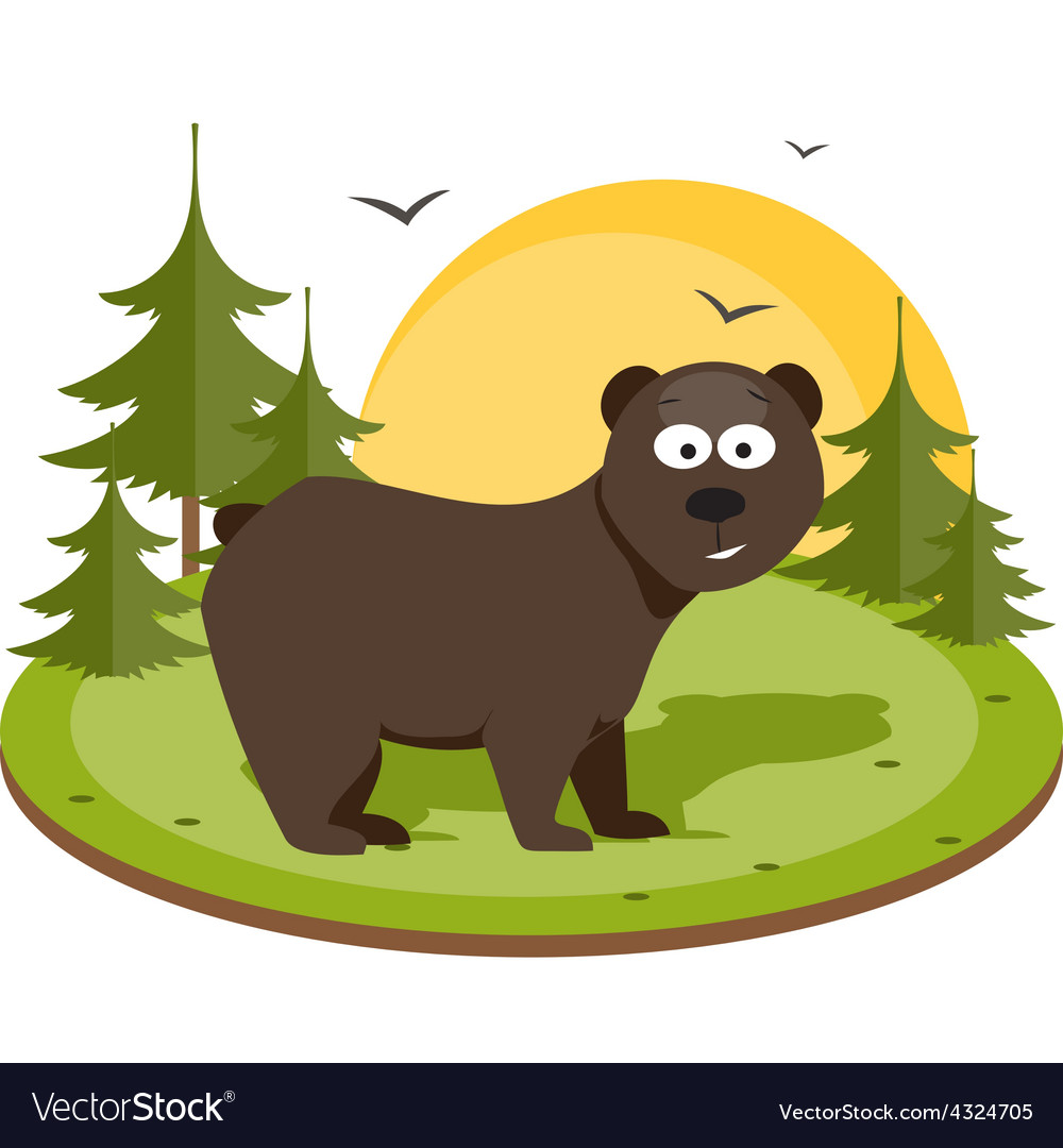 Brown bear flat vector   Price: 1 Credit (USD $1)