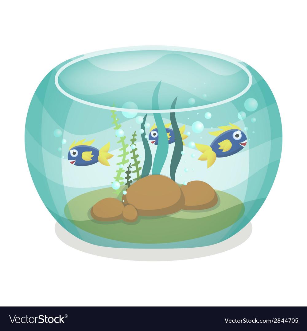 Cartoon aquarium with fishes vector | Price: 1 Credit (USD $1)