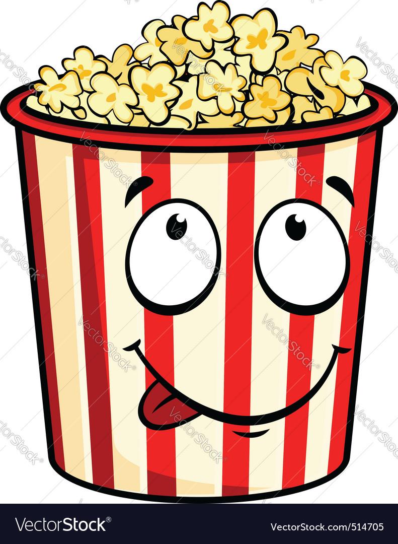Cartoon popcorn vector | Price: 1 Credit (USD $1)