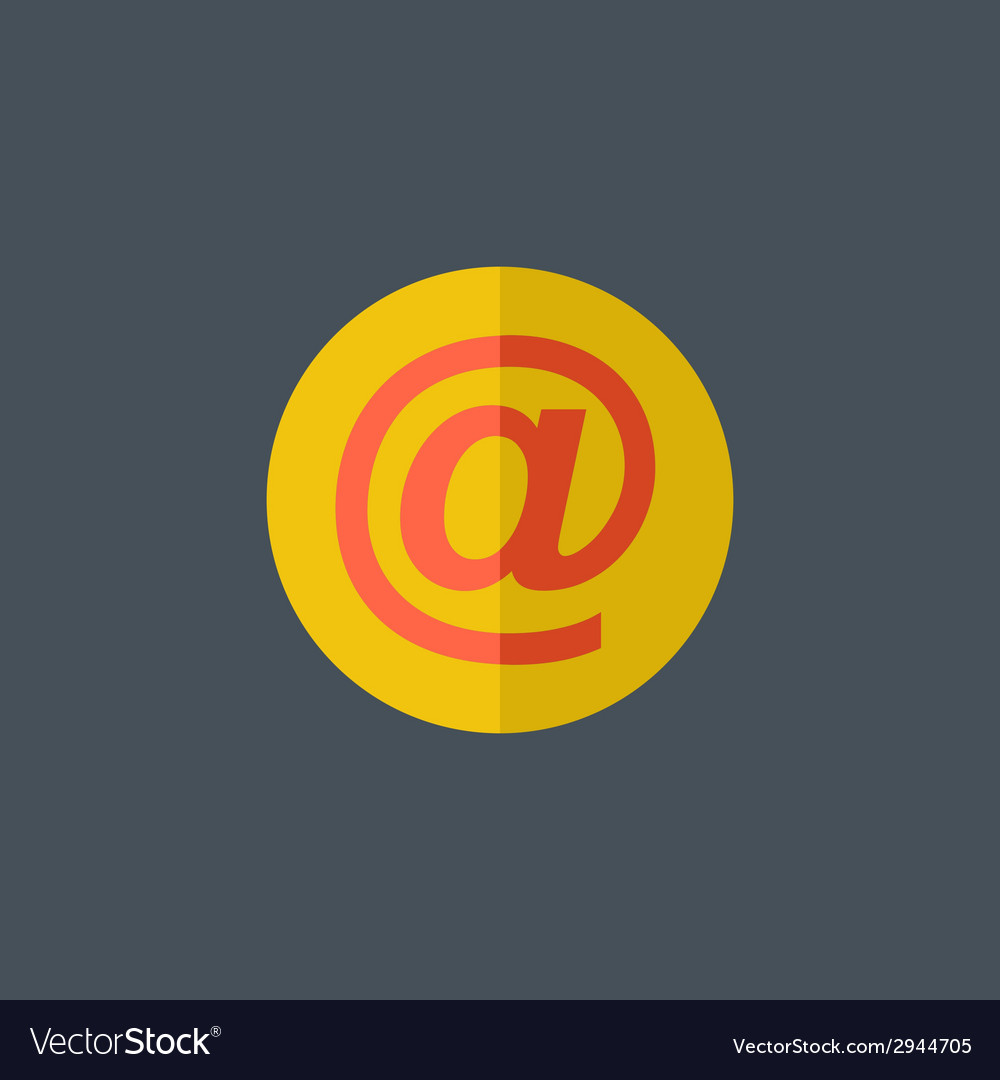 Email flat icon vector | Price: 1 Credit (USD $1)