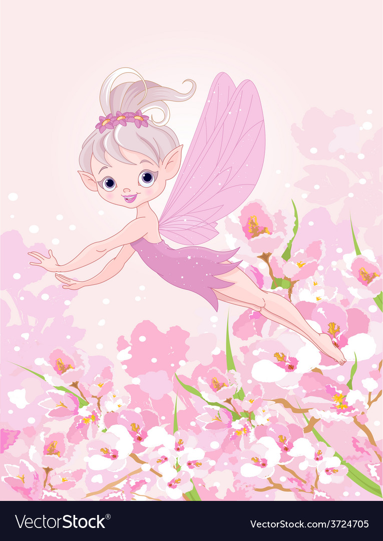 Flying pixy fairy vector | Price: 3 Credit (USD $3)