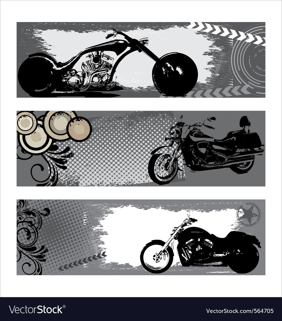 Grunge motorbike banners vector | Price: 1 Credit (USD $1)