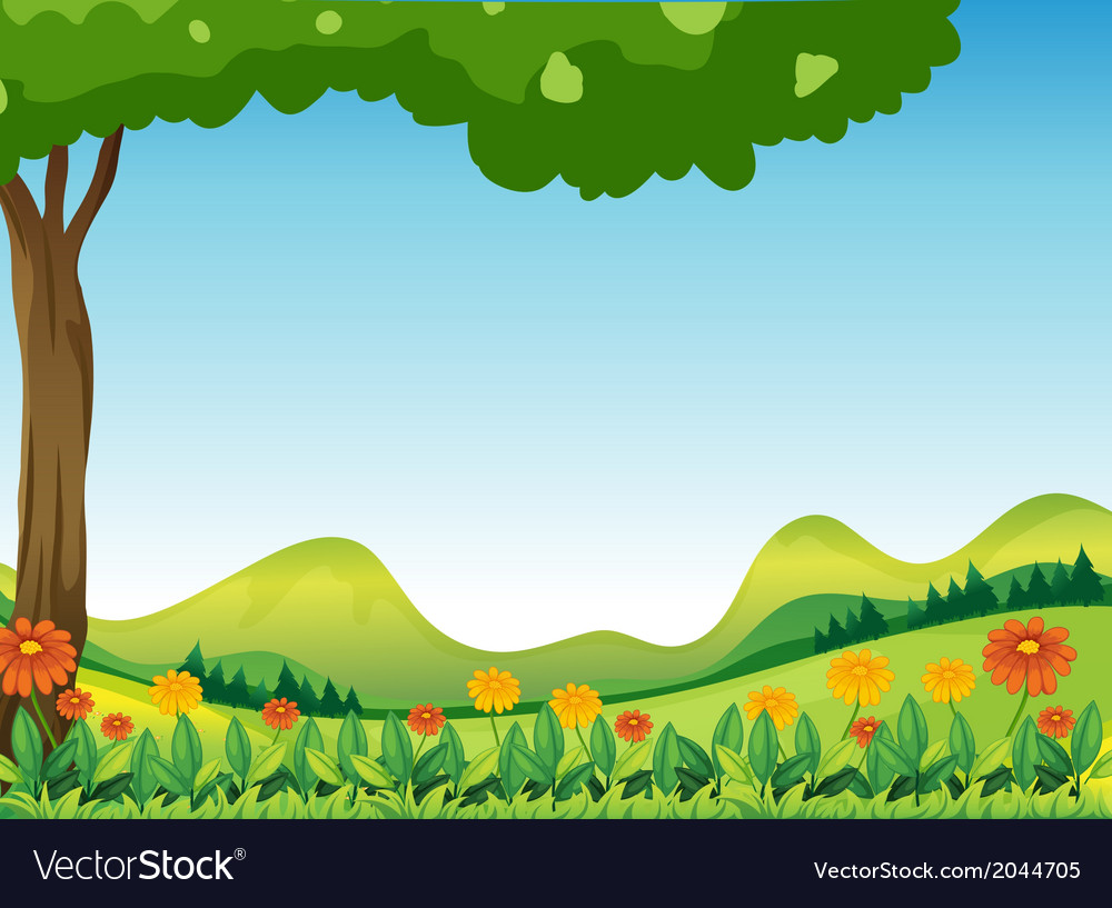 Natures scenic view vector | Price: 1 Credit (USD $1)