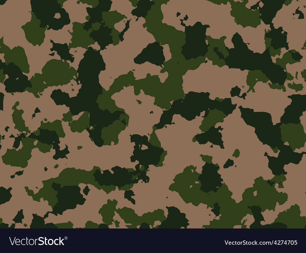 Seamless woodland camo pattern vector | Price: 1 Credit (USD $1)