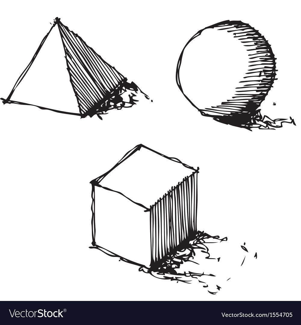 Sketch drawing of geometry vector | Price: 1 Credit (USD $1)