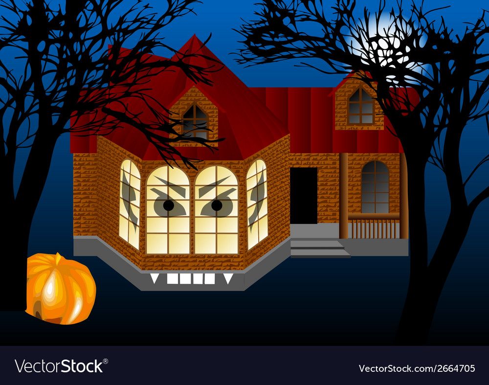 Spooky house vector | Price: 1 Credit (USD $1)
