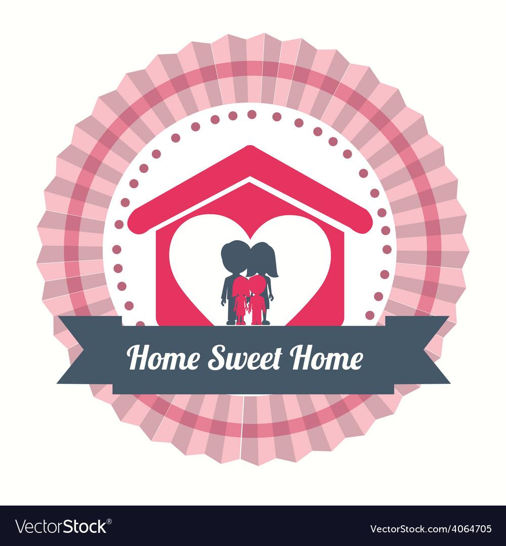 Sweet home design vector | Price: 1 Credit (USD $1)