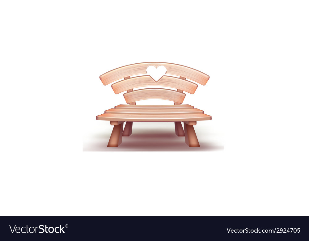Wooden bench vector | Price: 3 Credit (USD $3)