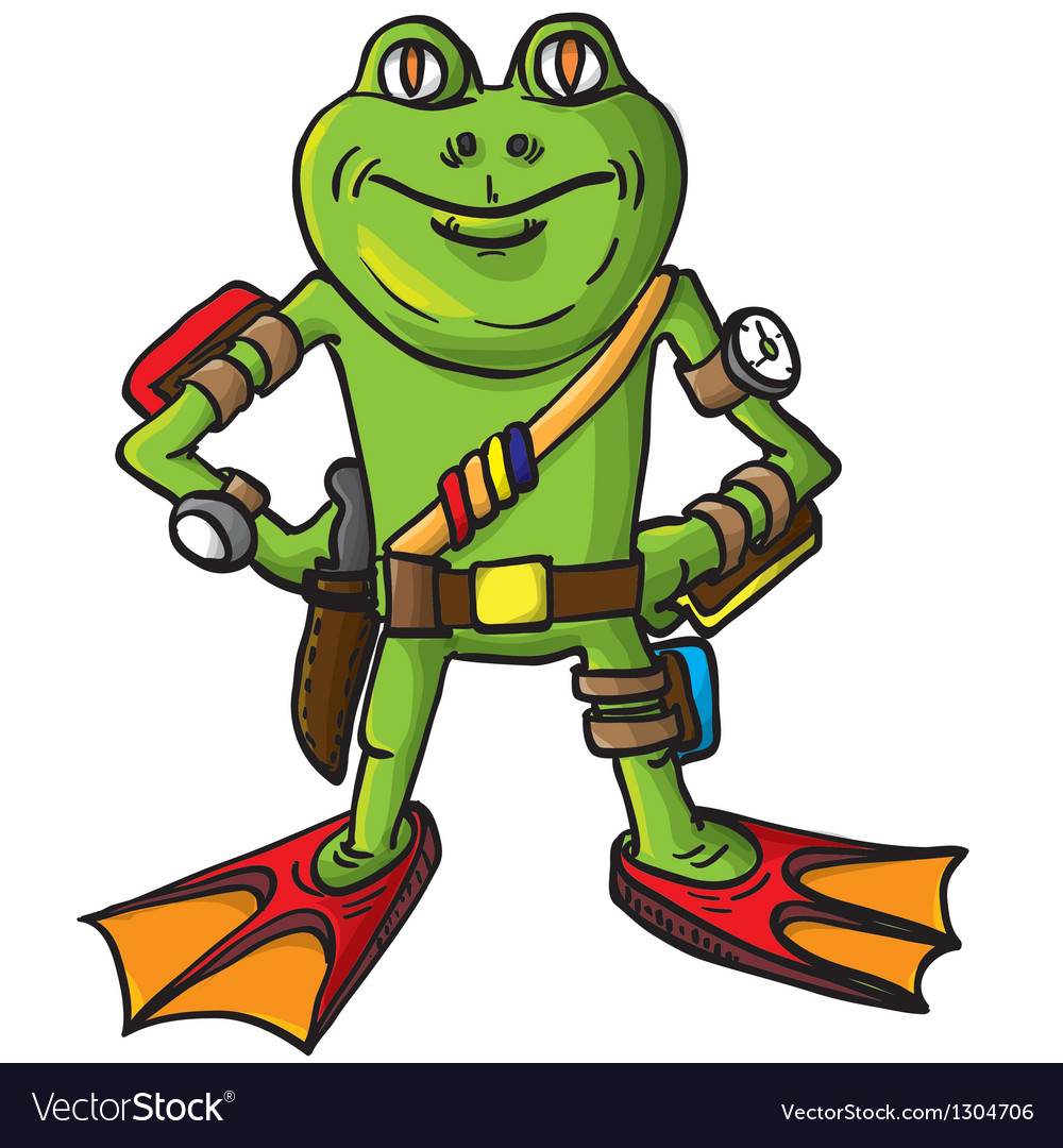 Frog combat swimmer vector | Price: 3 Credit (USD $3)