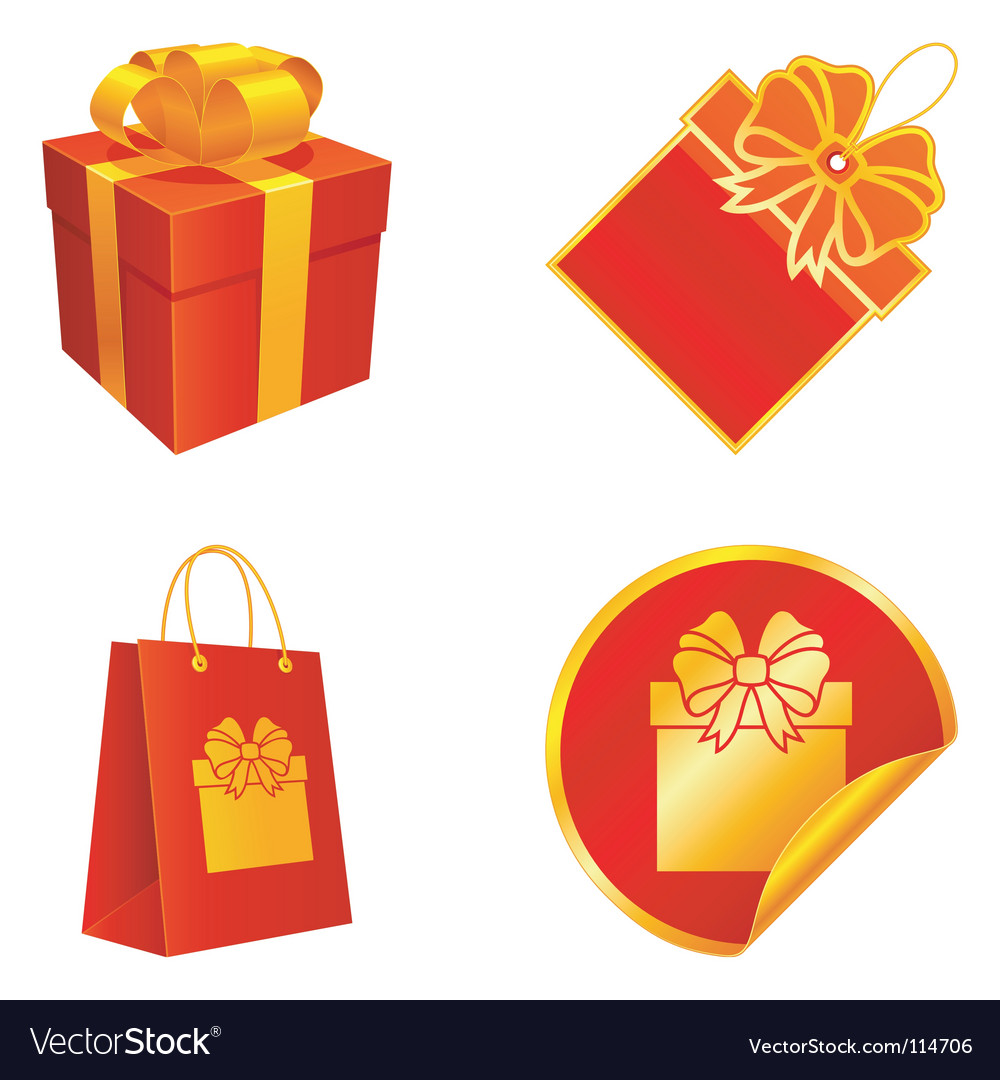 Gift elements vector | Price: 1 Credit (USD $1)