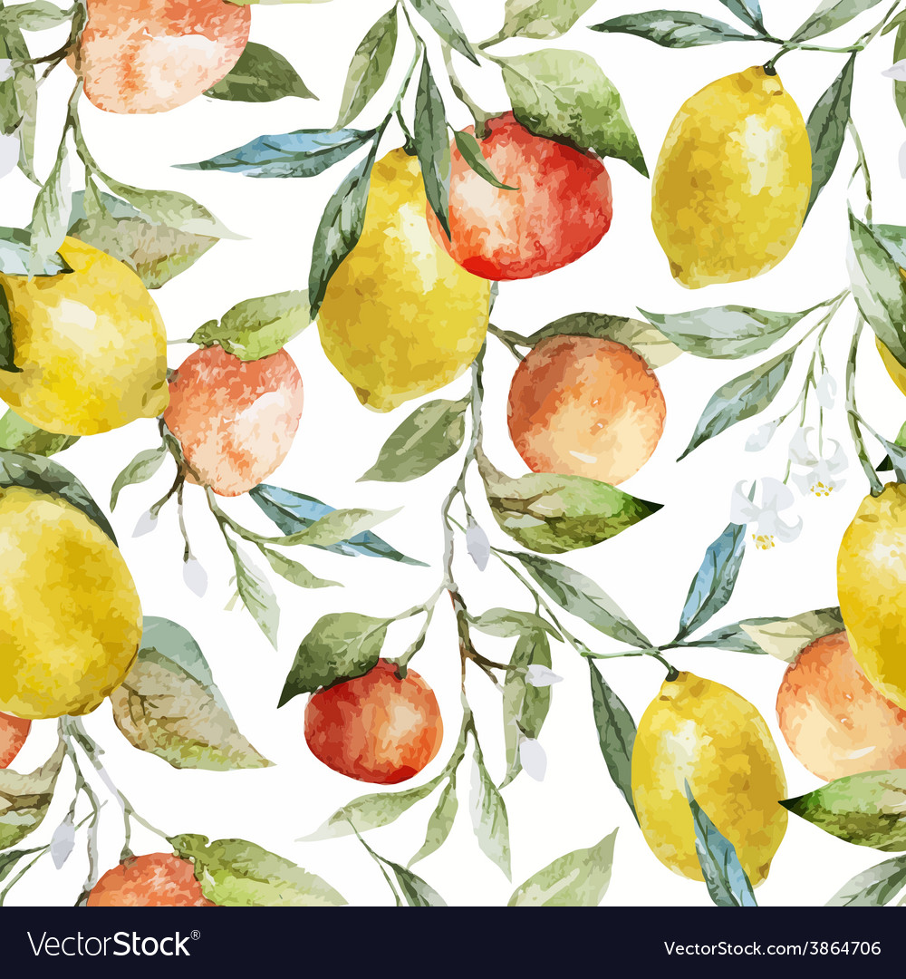 Lemons and oranges vector | Price: 1 Credit (USD $1)