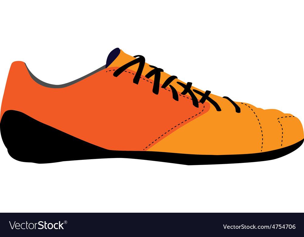Orange sport shoe vector | Price: 1 Credit (USD $1)