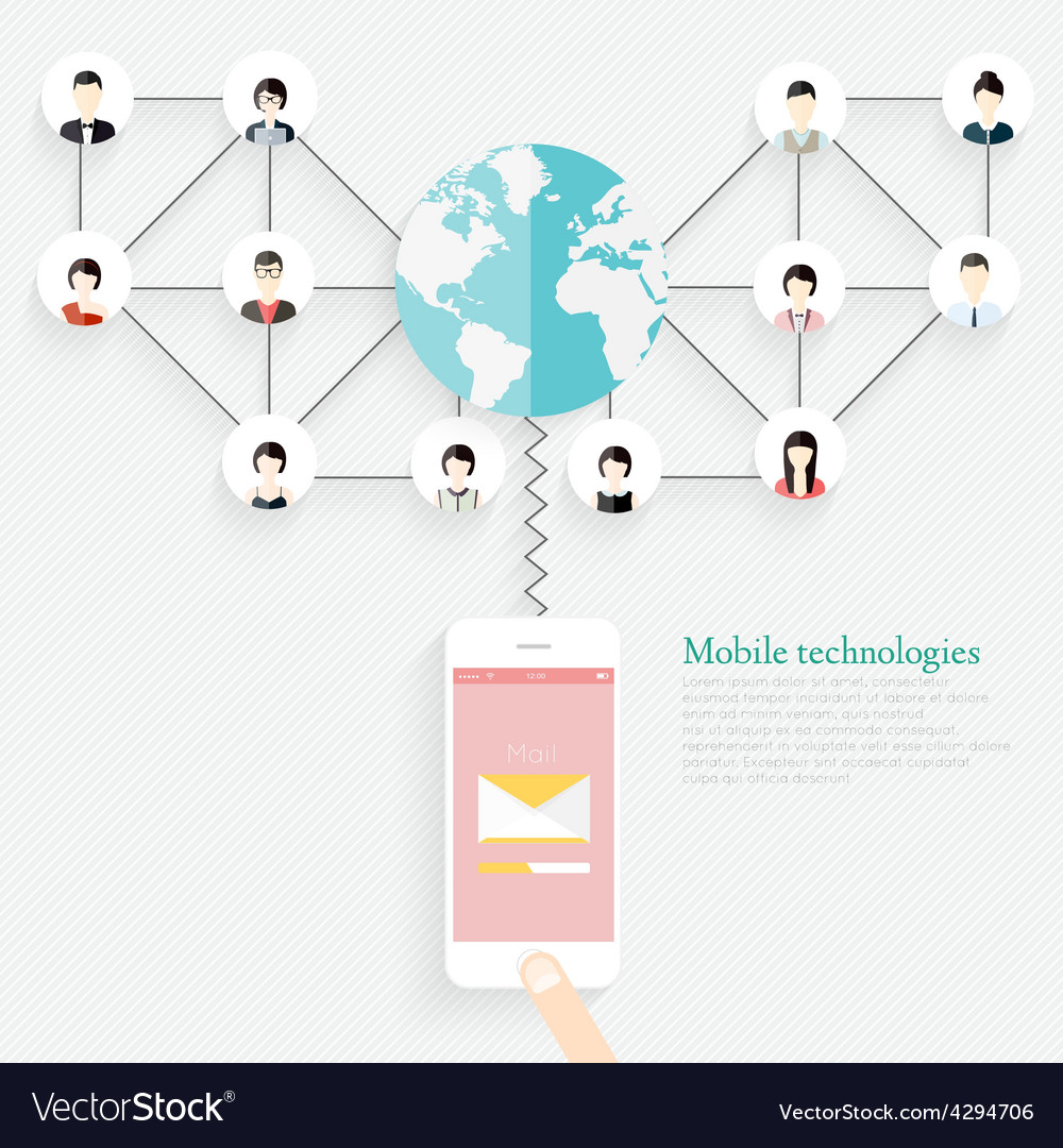 Social networking people conceptual design vector | Price: 1 Credit (USD $1)