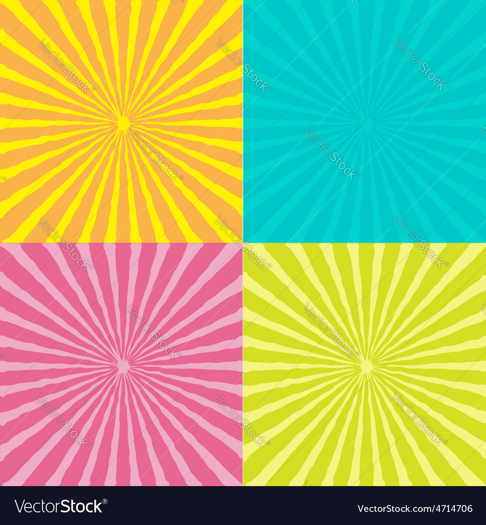 Sunburst set with wave ray of light template vector | Price: 1 Credit (USD $1)