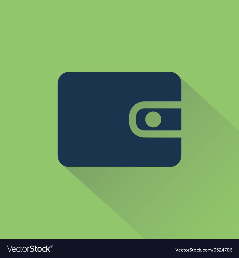 Wallet on background beams vector | Price: 1 Credit (USD $1)
