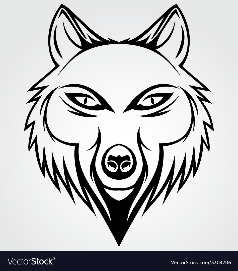 Wolf head tattoo vector | Price: 1 Credit (USD $1)