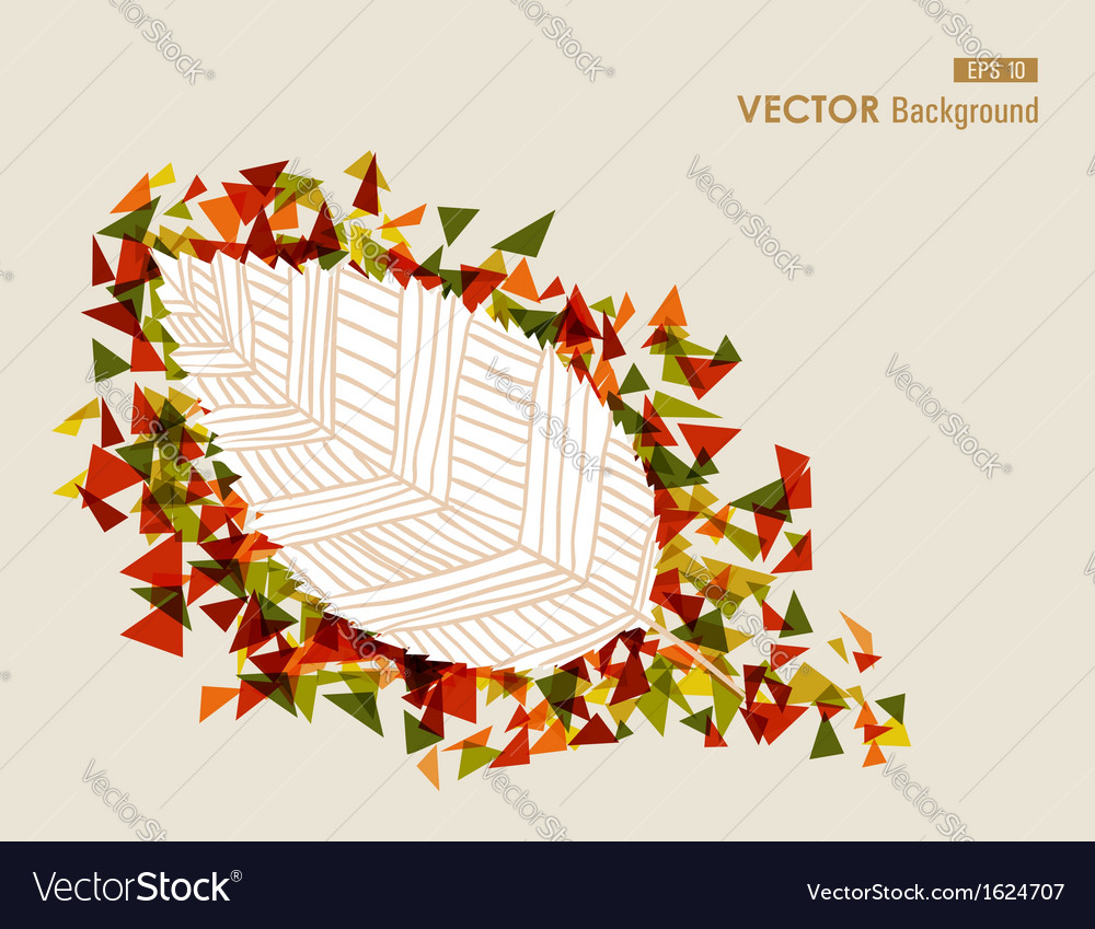 Abstract hand drawn leaf autumn concept eps10 file vector | Price: 1 Credit (USD $1)