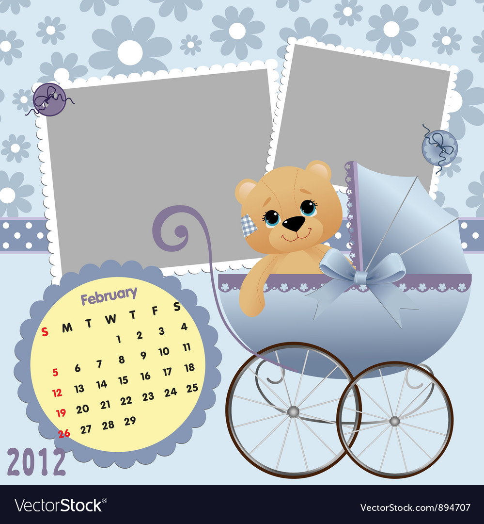 Babys monthly calendar for 2012 vector | Price: 1 Credit (USD $1)