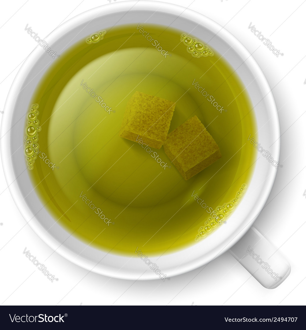 Cup of green tea vector | Price: 1 Credit (USD $1)