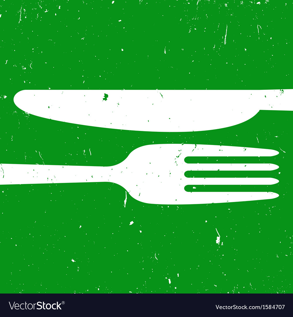 Cutlery on green background vector | Price: 1 Credit (USD $1)