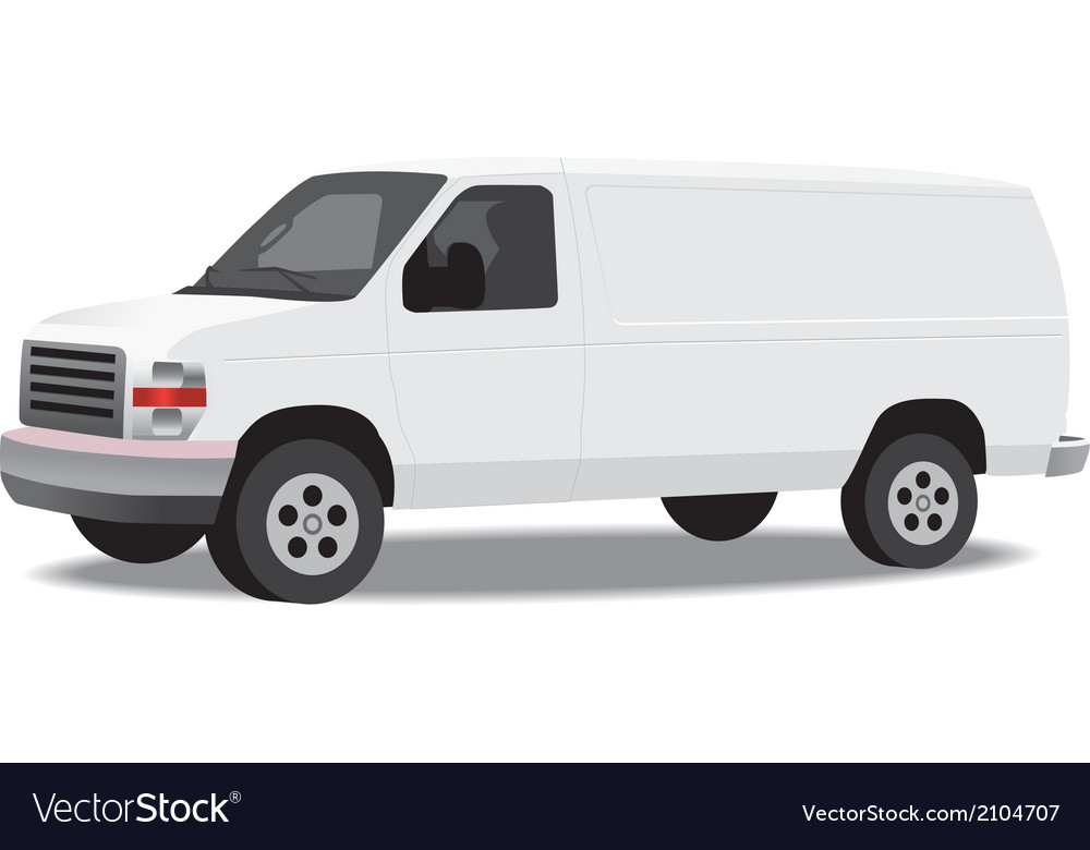 Delivery van isolated on white vector | Price: 1 Credit (USD $1)