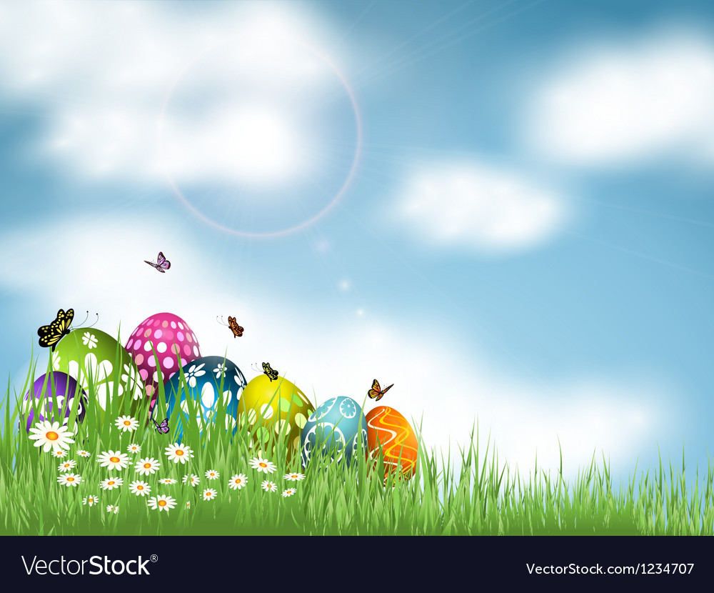 Easter egg background vector | Price: 1 Credit (USD $1)