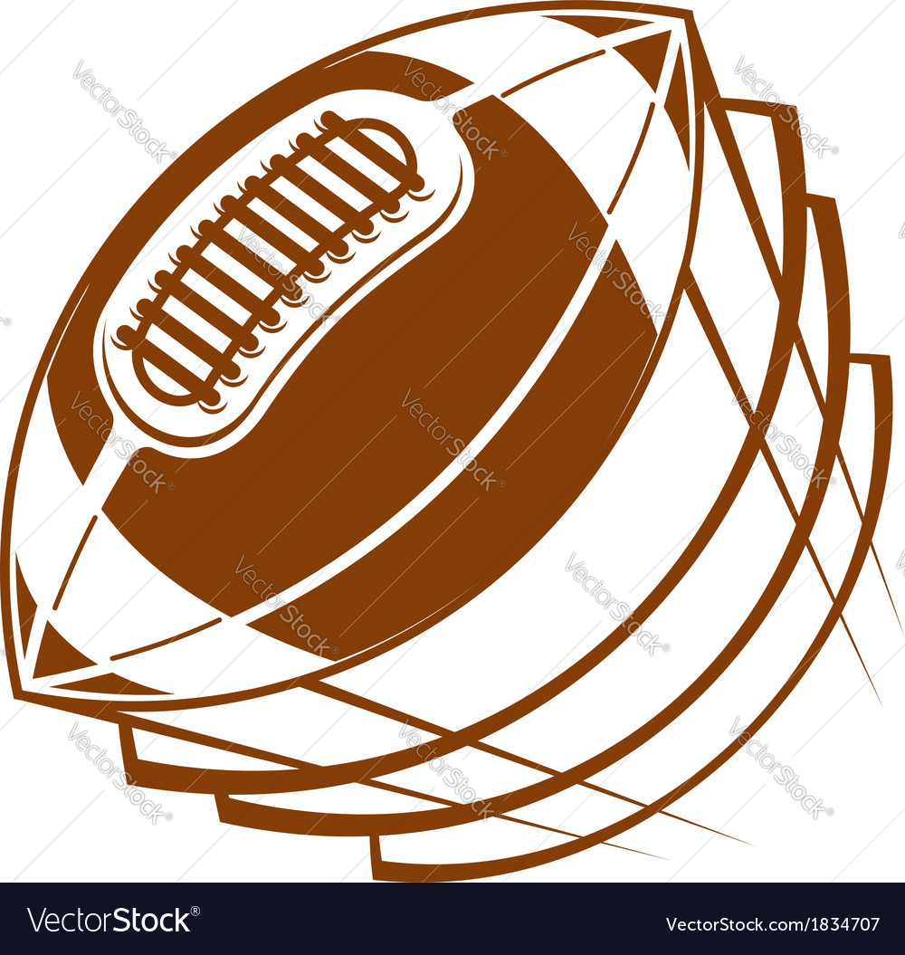 Football or rugby ball flying through the air vector | Price: 1 Credit (USD $1)