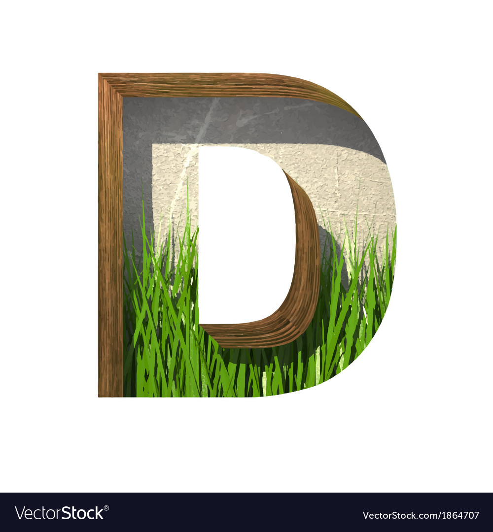 Grass cutted figure d paste to any background vector | Price: 1 Credit (USD $1)
