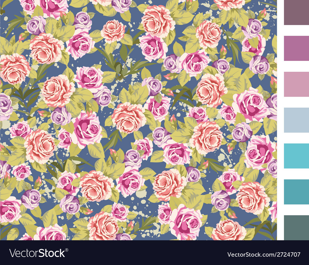 Rose seamless background vector | Price: 1 Credit (USD $1)